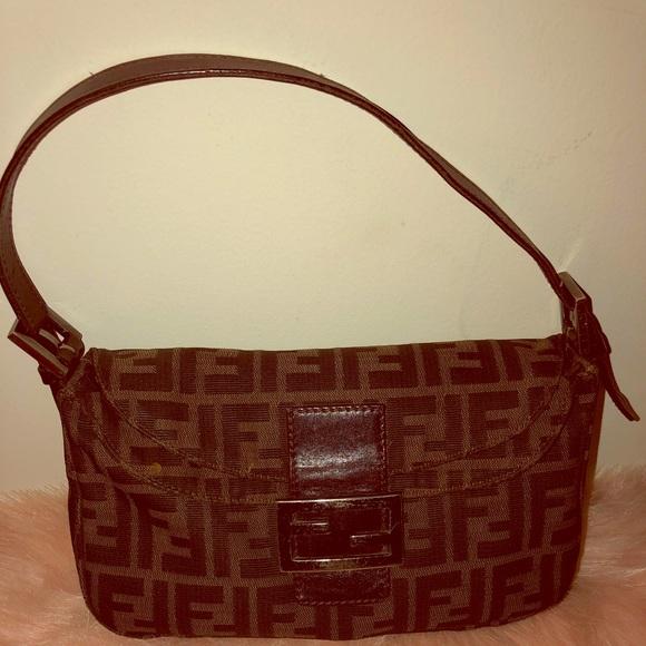 27bfb41d0893 Fendi Handbags - Authentic Fendi Zucca Canvas vintage bag